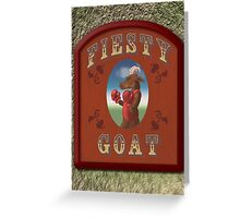 Fiesty Goat Greeting Card