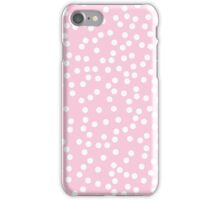 Cute Baby Pink and White Polka Dots iPhone Case/Skin