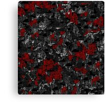 Gray and red decorative art Canvas Print