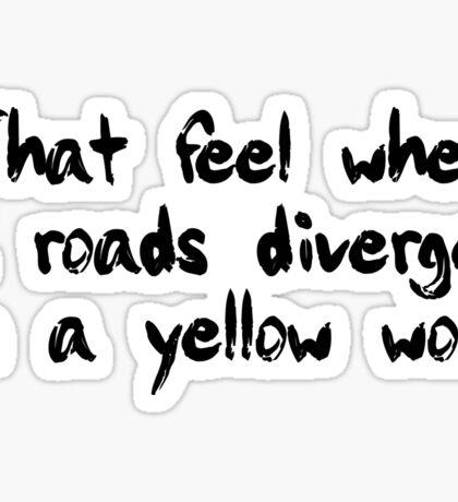tfw 2 roads (Black) Sticker
