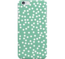Cute Bright Green and White Polka Dots iPhone Case/Skin