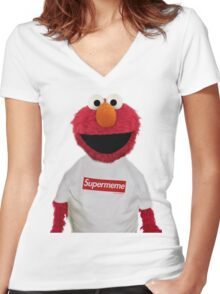 ELMO SUPERMEME 2 Women's Fitted V-Neck T-Shirt