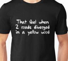 tfw 2 roads (White) Unisex T-Shirt