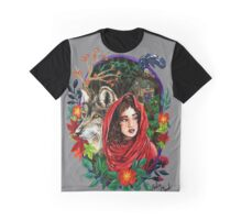 Little Red Watercolor Painting Graphic T-Shirt