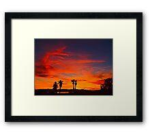 Last Night's Sunset Framed Print