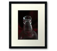 The empty bottle Framed Print
