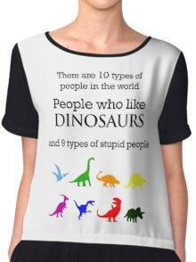 10 Types of People - Dinosaurs Chiffon Top