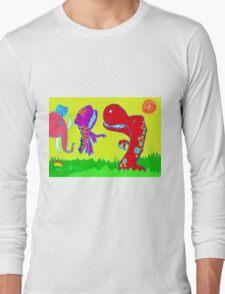Sizzlining Fun in Scorching Sun  Long Sleeve T-Shirt