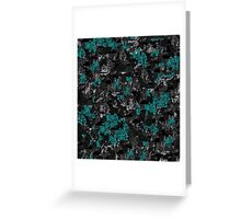 Blue and gray abstract art Greeting Card