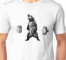 Grizzly Bear Deadlifting Unisex T-Shirt