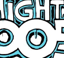 The Mighty Boosh – Dripping Blue Writing & Mask Sticker