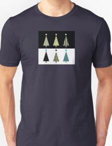 Black & white christmas tree design Unisex T-Shirt