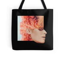 Mind. Explosion. Collection All Black / Blue. Collage ® Tote Bag