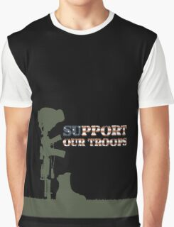 Support our Troops - Fallen Soldier Graphic T-Shirt