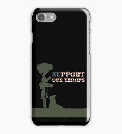 Support our Troops - Fallen Soldier iPhone Case/Skin