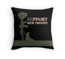 Support our Troops - Fallen Soldier Throw Pillow
