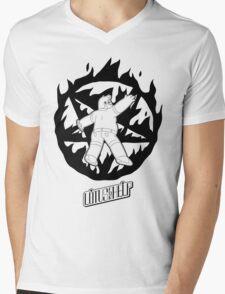 Lotus For Help - Ross Boston Demon Summoner - BLACK Mens V-Neck T-Shirt