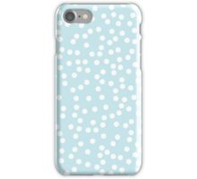 Cute Palest Blue and White Polka Dot iPhone Case/Skin