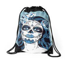 Calavera Mexicana Mujer Drawstring Bag