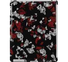 Red, white and black abstract art iPad Case/Skin