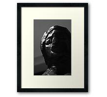 Wood Sculpture Head Framed Print