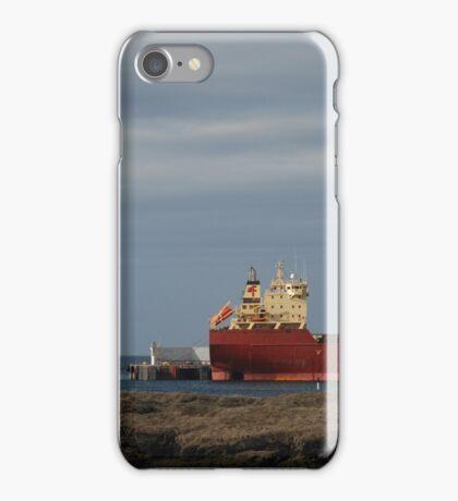 Large Red Cargo Ship iPhone Case/Skin