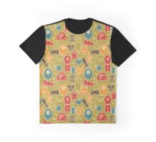 Robots on green. Graphic T-Shirt