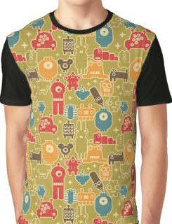 Robots on green Graphic T-Shirt