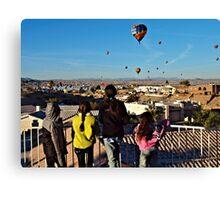 Kids & Balloons Canvas Print