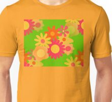 groovy mod floral  Unisex T-Shirt