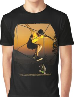 Casual SkateBoard Graphic T-Shirt