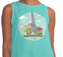 Paris, France skyline badge Contrast Tank