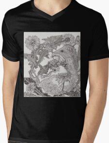 Guinea Pig in Dandelions  Mens V-Neck T-Shirt
