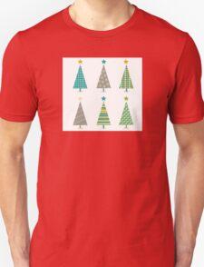 Retro christmas trees icon set. Retro christmas trees in retro design Unisex T-Shirt