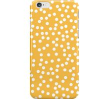 Cute Mustard Yellow and White Polka Dot iPhone Case/Skin