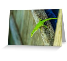 Green Guy Greeting Card