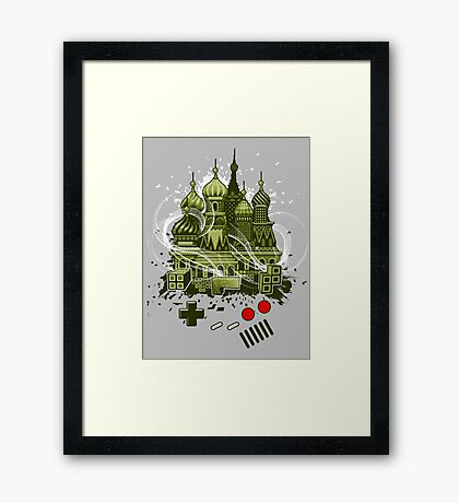 Tetris Gameboy Tribute to Alexey Framed Print