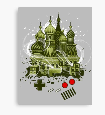 Tetris Gameboy Tribute to Alexey Canvas Print