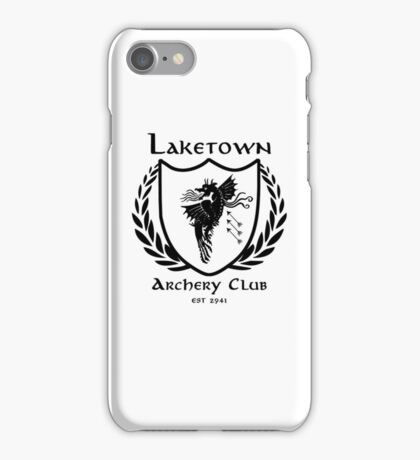 Laketown Archery Club (Black) iPhone Case/Skin