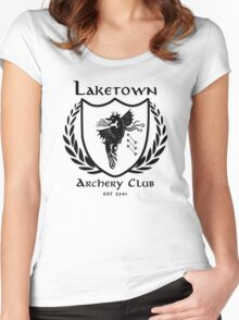 Laketown Archery Club (Black) Women's Fitted Scoop T-Shirt
