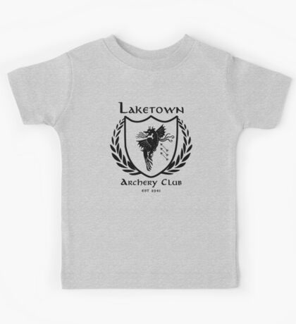 Laketown Archery Club (Black) Kids Tee