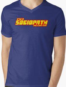 I'm a sociopath and I dont care Mens V-Neck T-Shirt