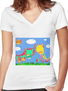 Let the Good Times Roll Women's Fitted V-Neck T-Shirt