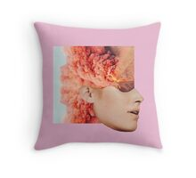 Mind. Explosion. Collection All Pink Coral Orange. Collage ® Throw Pillow