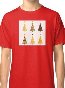 Retro christmas tree isolated on white. Six retro christmas trees on white background Classic T-Shirt