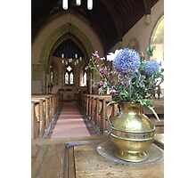 Flowers In Church Photographic Print