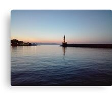 Chania by night Canvas Print