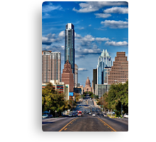 Texas State Capital from south Congress in Austin Canvas Print