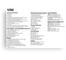 Vim Cheat Sheet Canvas Print