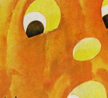 Retro Halloween Jack O'Lantern Sticker